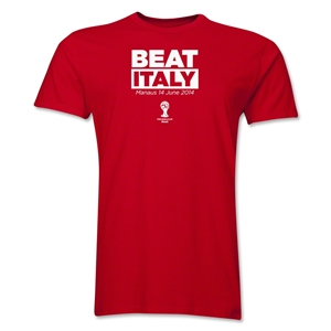 The 'We beat Italy' t-shirt - just in case, we, you know, don't