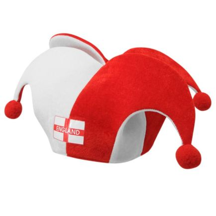 The England jester hat, because you don't want to look like a pillock