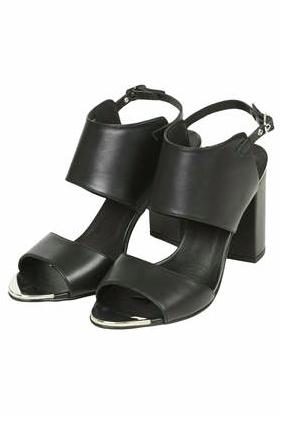 Topshop Raff Black Sandals