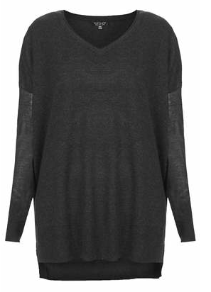 Topshop Double Layer Sheer Solid Top
