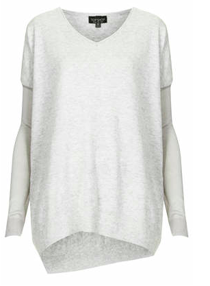 Topshop Asymmetric V-Neck Sweater