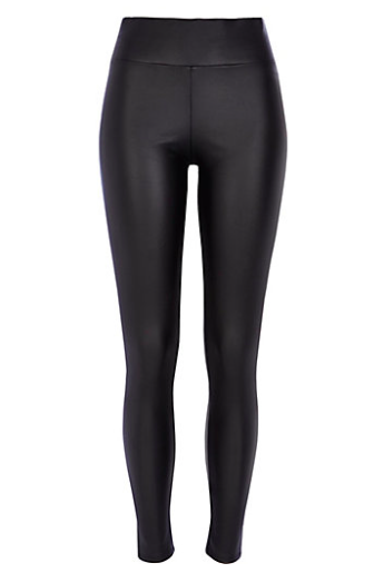 River Island High Waisted Coated Leggings