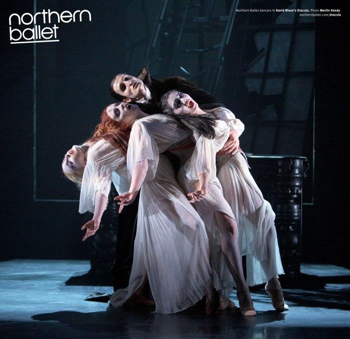 Christopher-Hinton-Lewis-as-Dracula,-Hannah-Bateman,-Victoria-Sibson-and-Rachael-Gillespie-as-Brides-of-Dracula