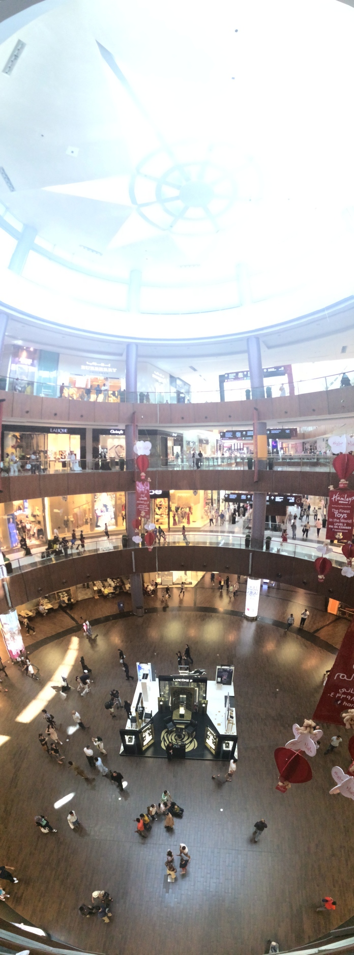 Dubai Mall - the biggest in the world - this shot was a teeny tiny corner. It was very weird seeing M&Co and Waitrose