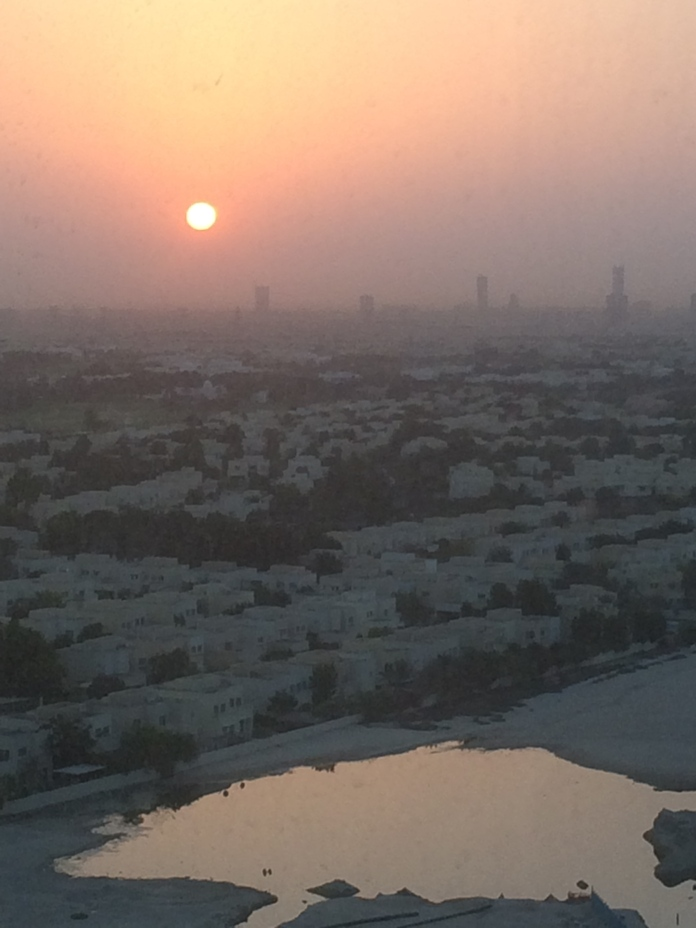 Day six - the sunrise before the top of the Burj